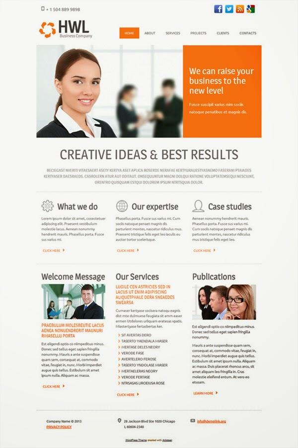 HWL Business Company - Free Wordpress Theme