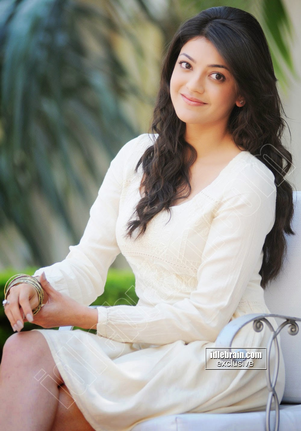 Kajal Agarwal white dress