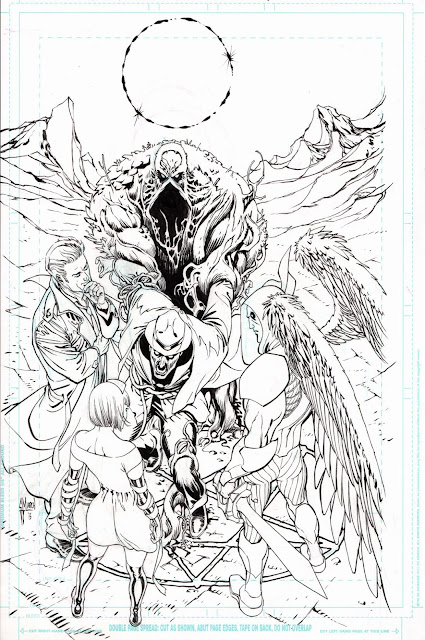 Making of the PHANTOM STRANGER 14 cover by Guillem March