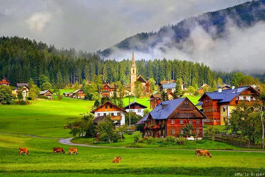 Gosau Village, BEAUTIFUL Austria
