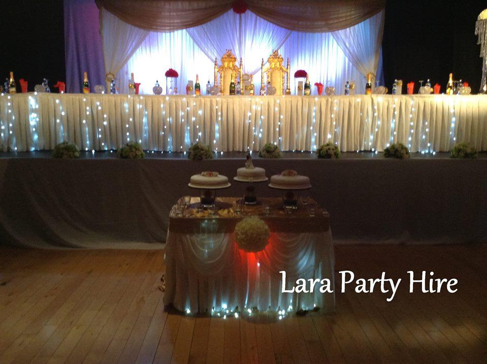 Lara party hire wedding the barbican centre drogheda for Decor 4 hire