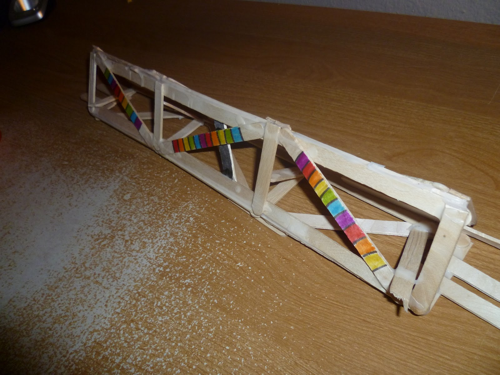 how to build a bridge with 100 popsicle sticks