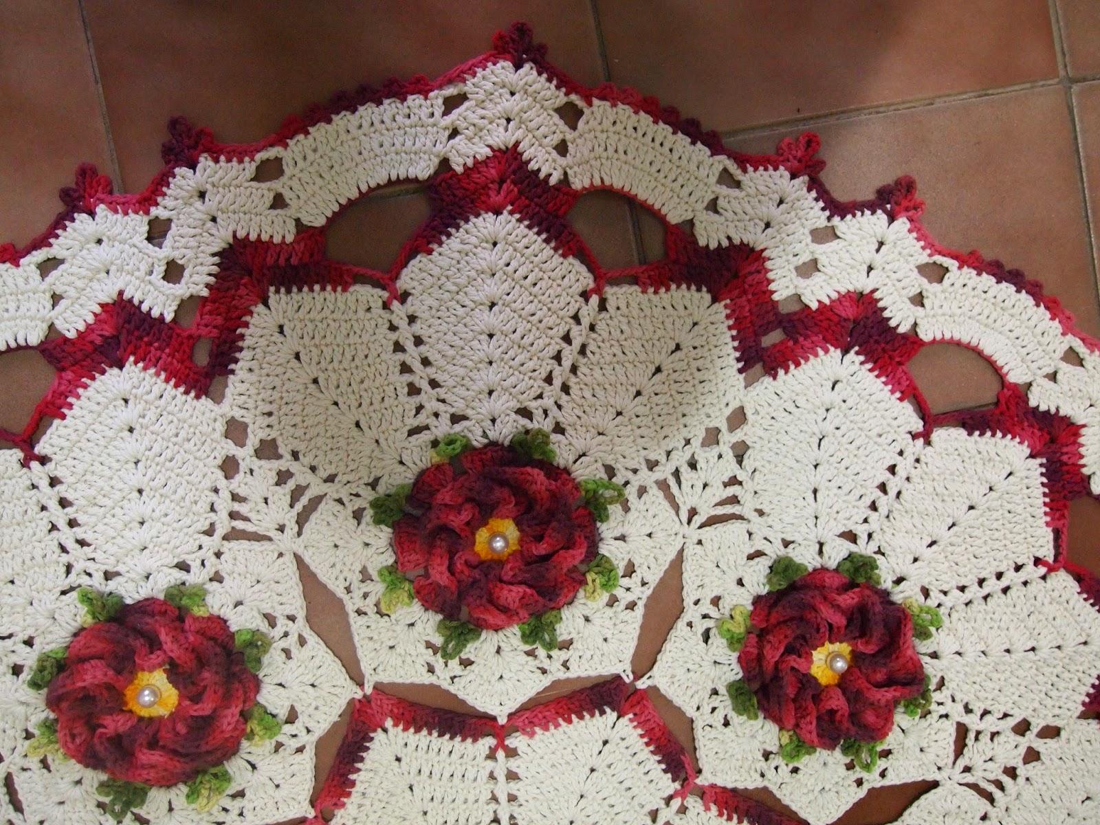 Tapete Redondo De Croche Passo A Passo Tapete Redondo De Croche  -> Tapete De Sala Barbante Passo A Passo