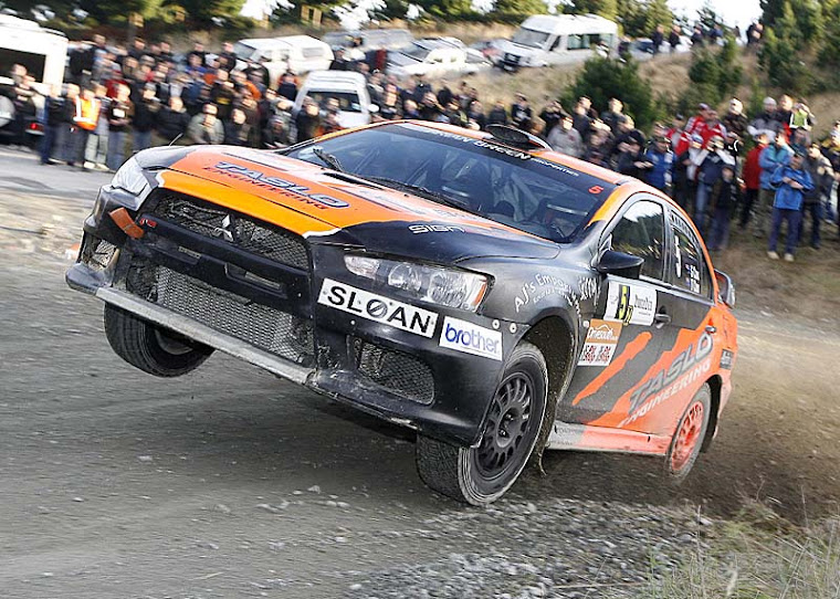 Rally action at the Otago rally