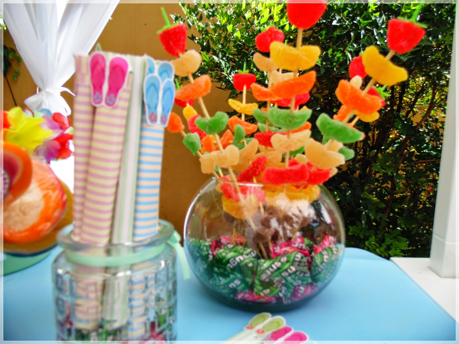 Decoracion Hawaiana Manualidades ~ Endulzados Candy Bar Mesas dulces ambientadas Luau  Fiesta Hawaiana