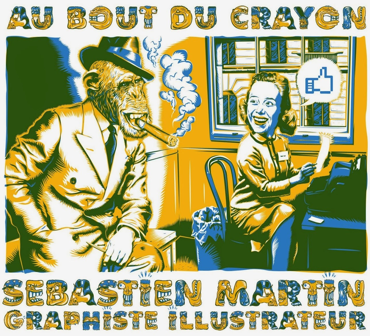 au bout du crayon de Sébastien Martin illustrateur bédéiste
