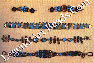 Bracelets from the tomb of King Djer, from Abydos
