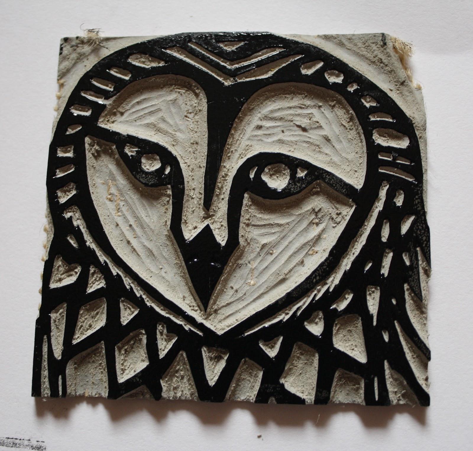 Laura Kennard Graphic Artist Lino Printing