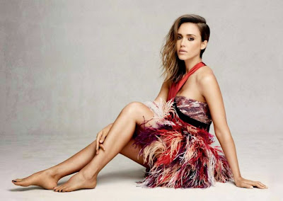 jessica alba beauty photoshoot marie claire uk magazine