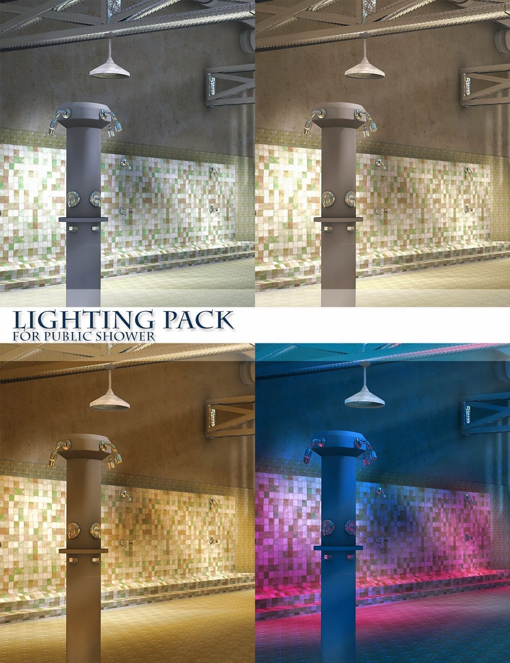 Pack éclairage pour douche publique