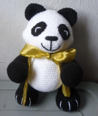 crochet amigurumi panda toy pattern