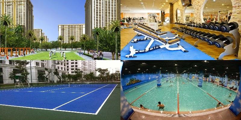 Phòng tập Gym, bể bơi, sân chơi thể thao trong Times