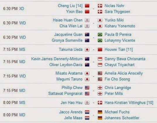 Jadwal Pertandingan BWF World Championships 2014 Hari Kedua 5