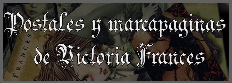 Postales y marcapáginas de Victoria Francés
