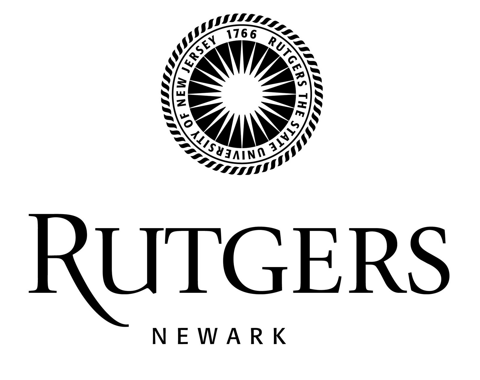 Rutgers Newark black and white logo 2007