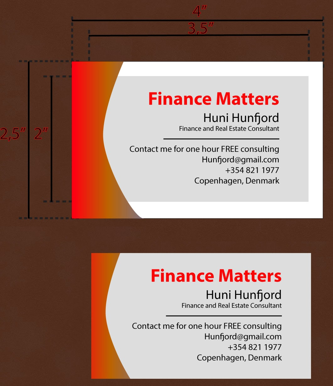 Finance Matters: Make your Business Card plain and clear