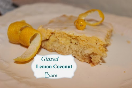 Eclectic Red Barn: Glazed Lemon Coconut Bars