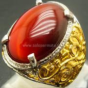 Cincin Batu Permata Red Cat Eye - SP764