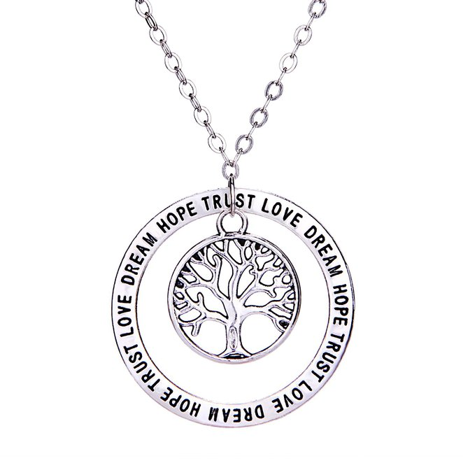 Not just another southern gal longil love hope dream pendant the pendant necklace shown is the love hope dream necklace by longil it is made of high polished alloy and features a circle pendant engraved with love aloadofball Choice Image