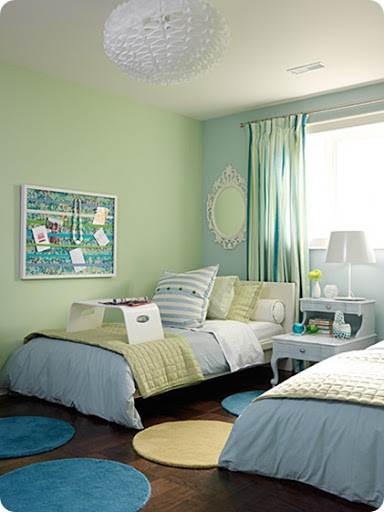 Theme Design Ideas in Coastal style decor House Furniture : coastal theme beach cottage decor bedroom ideas aqua blue shades serene chic teen kids twin bedroom interestingwall color design inspiration diy cool colors from themillennialhousewife.blogspot.com size 384 x 512 jpeg 46kB