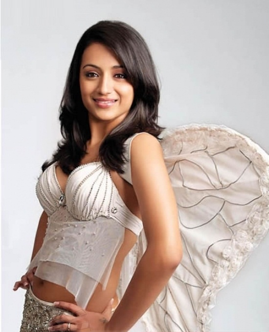 Trisha looking like an angel in a gorgeous white outfit - TRISHA = GIRL WITH WINGS