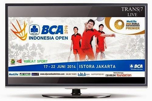 Jadwal Siaran Langsung BCA Indonesia Open 2014 Trans7