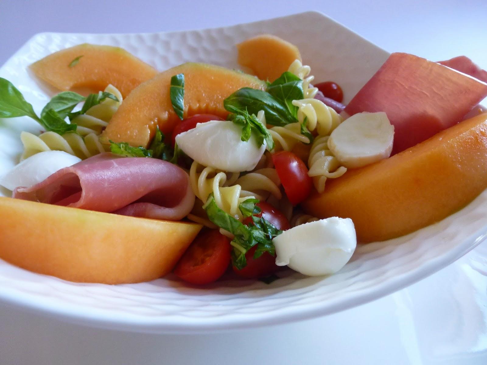 Salade De P Tes Estivale Melon Serrano Basilic