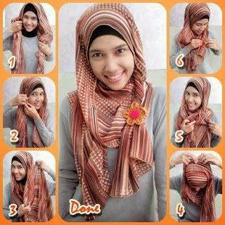 Tutorial jilbab hijab  Pashmina Sifon Motif Ethnic