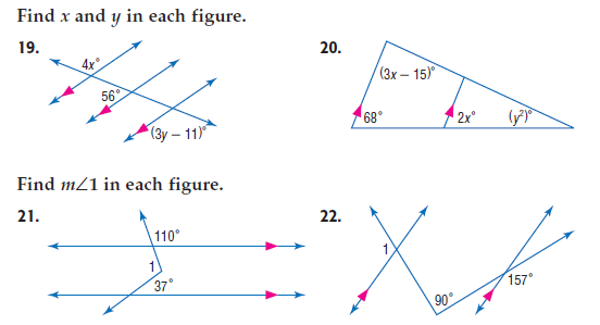 parallel lines cut by a transversal practice pdf