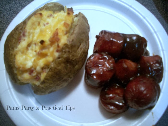 BBQ Sausage Recipe and Cheesy Bacon Potato Recipe
