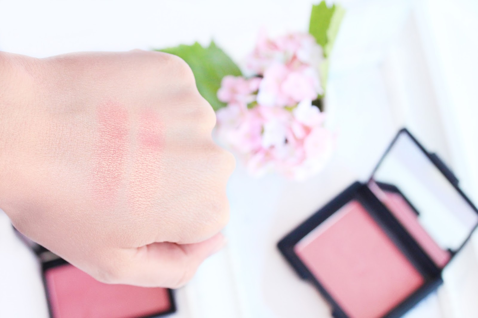 NARS Orgasm blush dupe Sleek Rose Gold Swatches