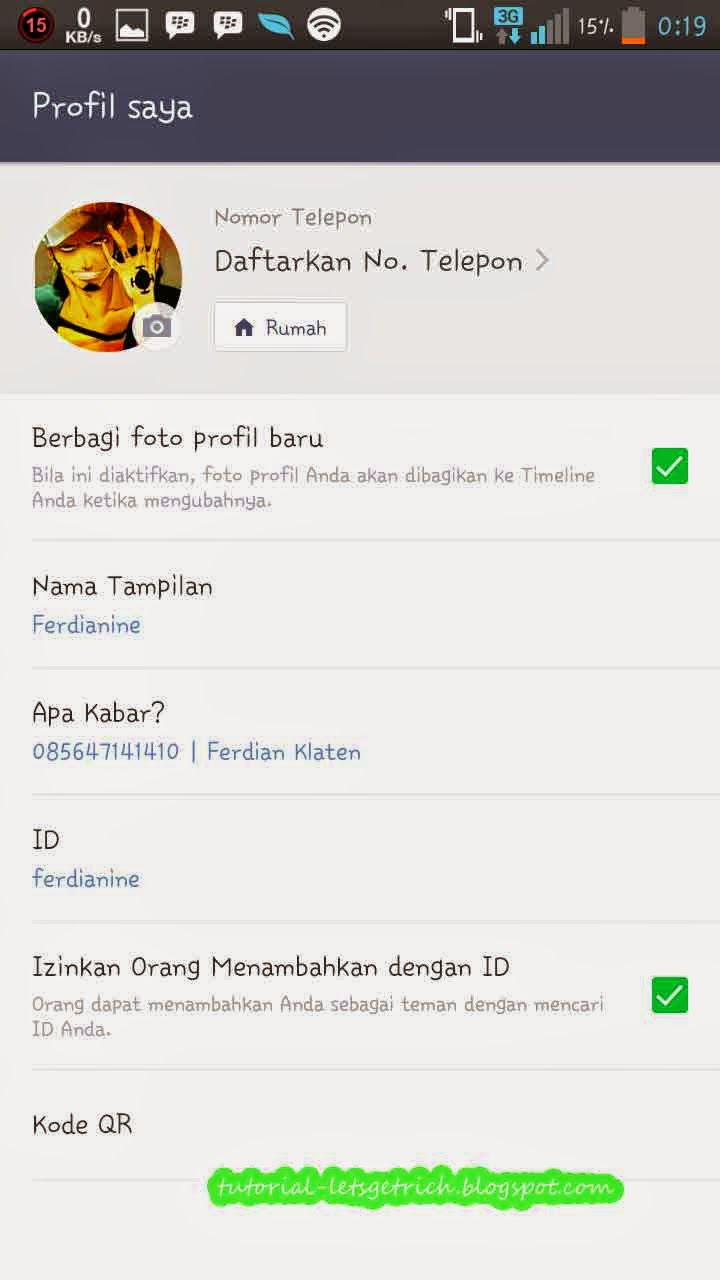 how to get line id