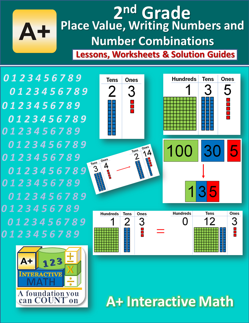 Free 2nd Grade Place Values and Number Combinations