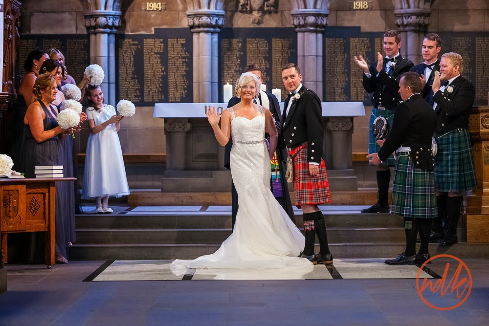 Glasgow University Chapel Wedding Photography