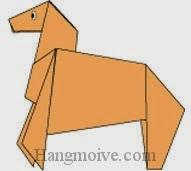 Bước 15: Vẽ mắt để hoàn thành cách xếp con ngựa bằng giấy.