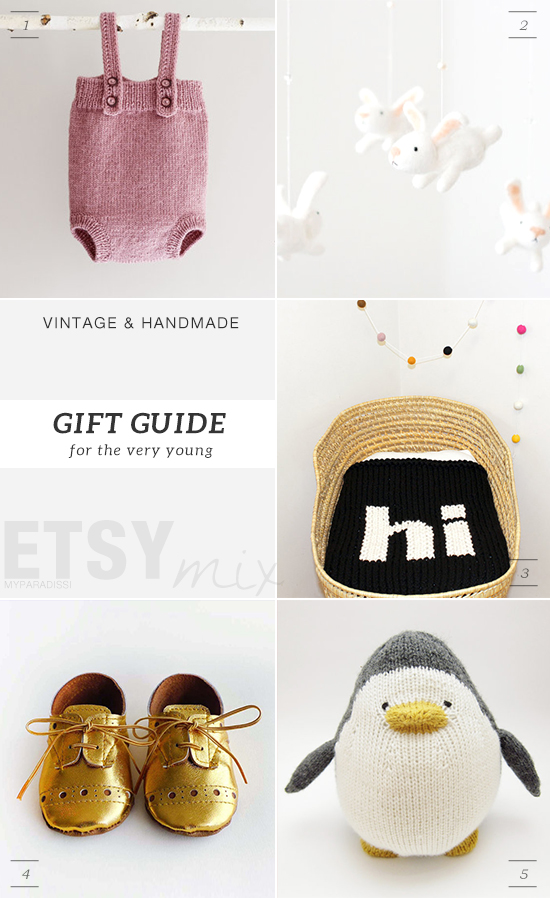 Vintage and handmade holidays gift guide from Etsy for babies by My Paradissi