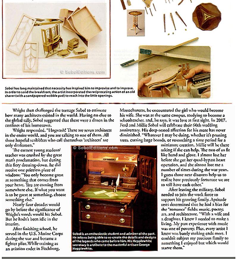 The Ferd Sobol Editions: Dollhouse Miniatures Magazine Article
