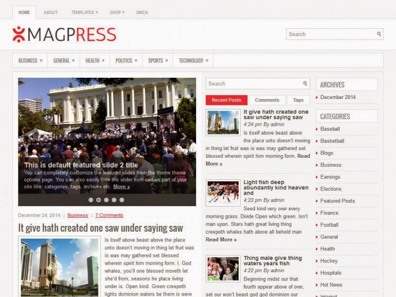 MagPress - Free Wordpress Theme