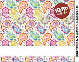 Etiqueta M&M de Cachemira para imprimir gratis.