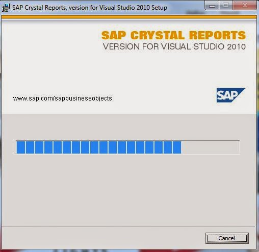 SAP Crystal Report VB 2010