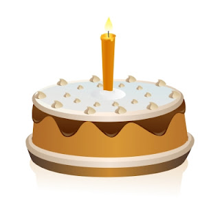 Happy Birthday Cake with Candle