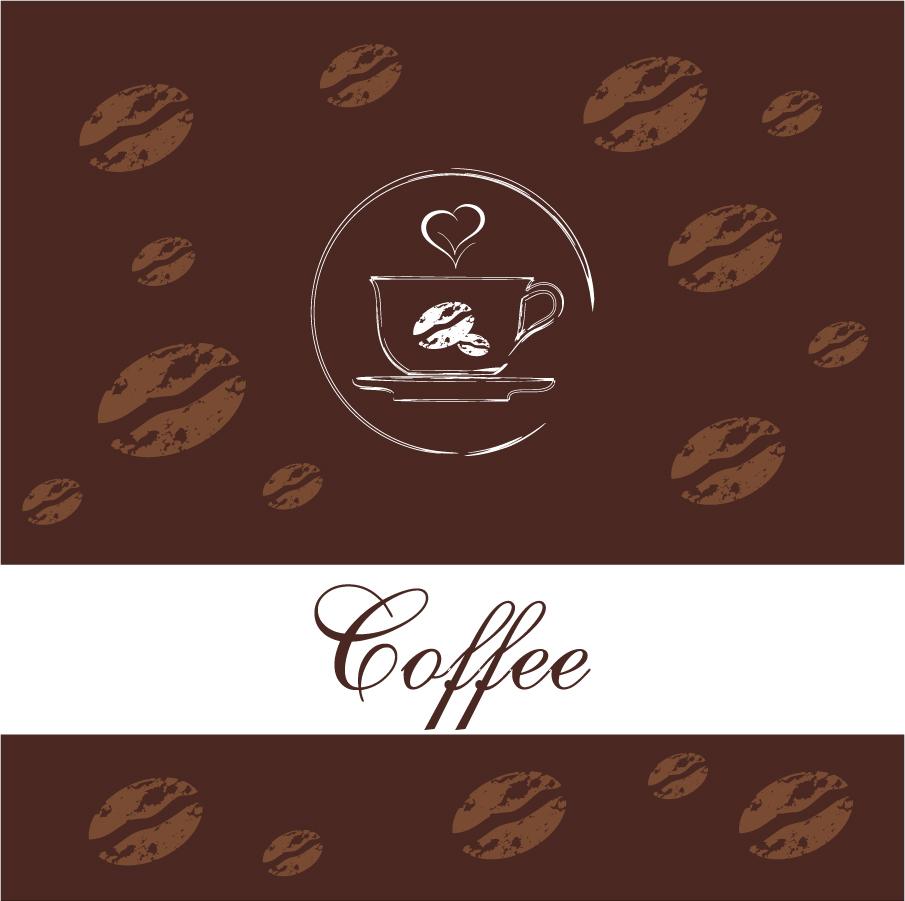 珈琲ショップのメニュー表紙 coffee beans menu イラスト素材
