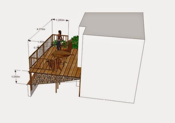 Terrasse bois suspendue | paysagiste val d\'oise, création jardin 95,