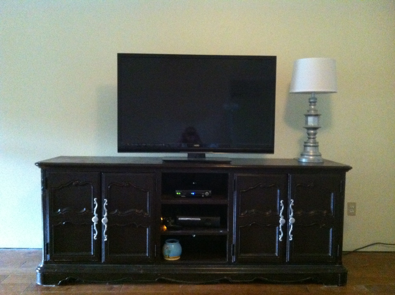 stacie thinks she can dresser to entertainment center redo