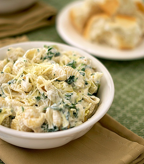 Amazing Pinterest world: Spinach Artichoke Pasta with Parmesan and ...