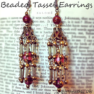 beaded tassel earring tutorial