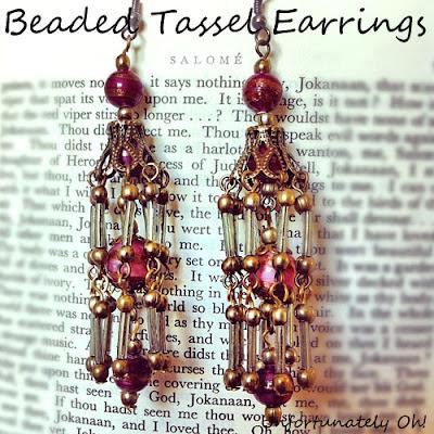 beaded tassel earring tutorial