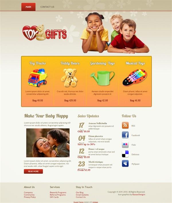 Toy Gifts - Free Drupal Theme