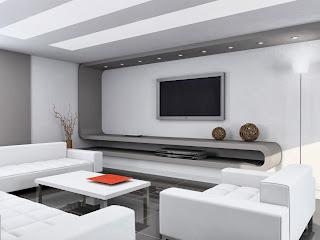 Desain Interior Ruang Tamu Futuristik Minimalis
