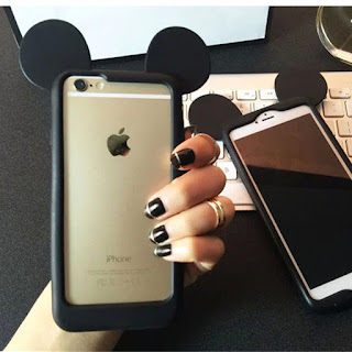 Cute disney mickey mouse Frame Silicone case Cover for apple iphone6 plus 5S 4S